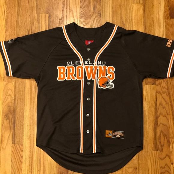 best service 680a4 8fd35 Retro Browns Baseball Jersey